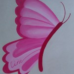 vlinder geboortecadeau Line